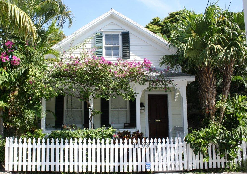 Key West conch cottage on Fleming Street