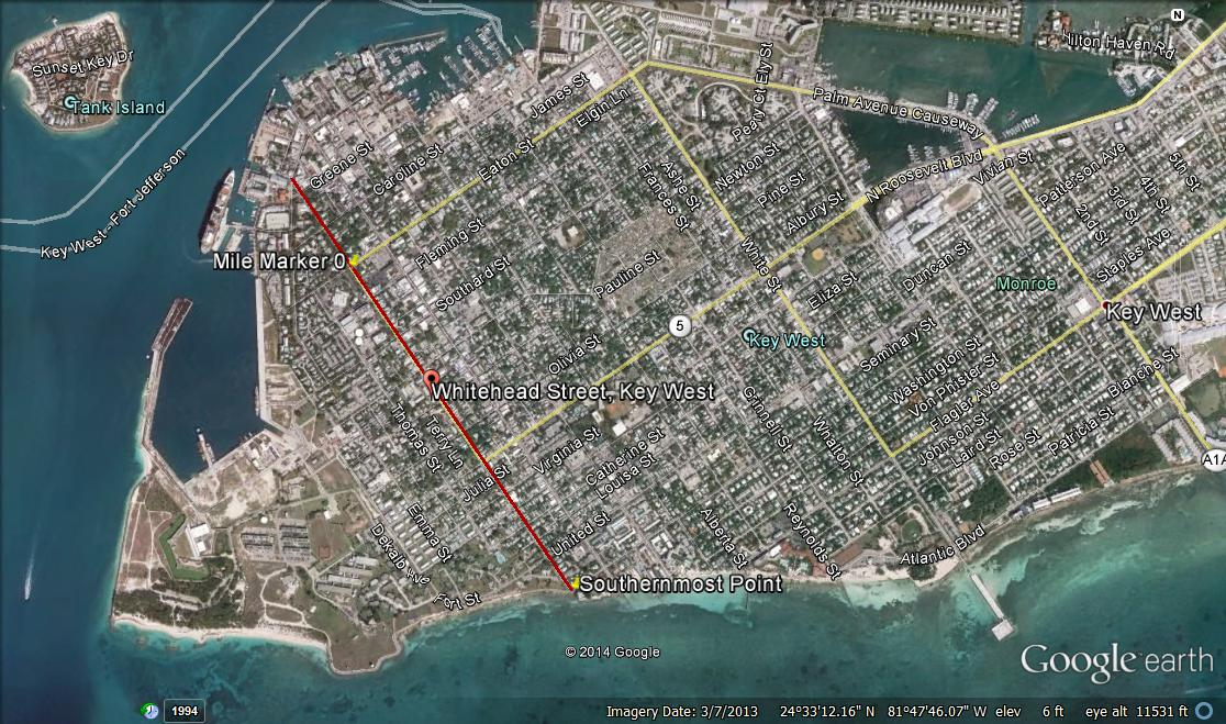 Map Of Key West Florida Streets.Old Town Key West Neighborhoods Whitehead Street Area