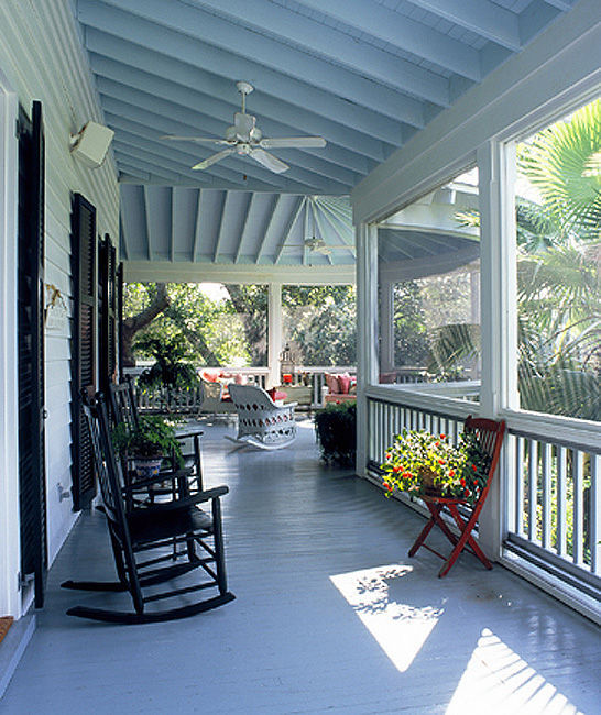 Key West Homes: The Blue Porch Ceilings