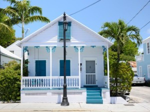 Key West conch cottage blue and white